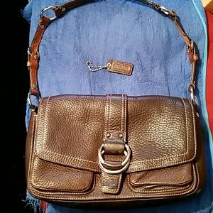 Authentic coach pebble brown leather